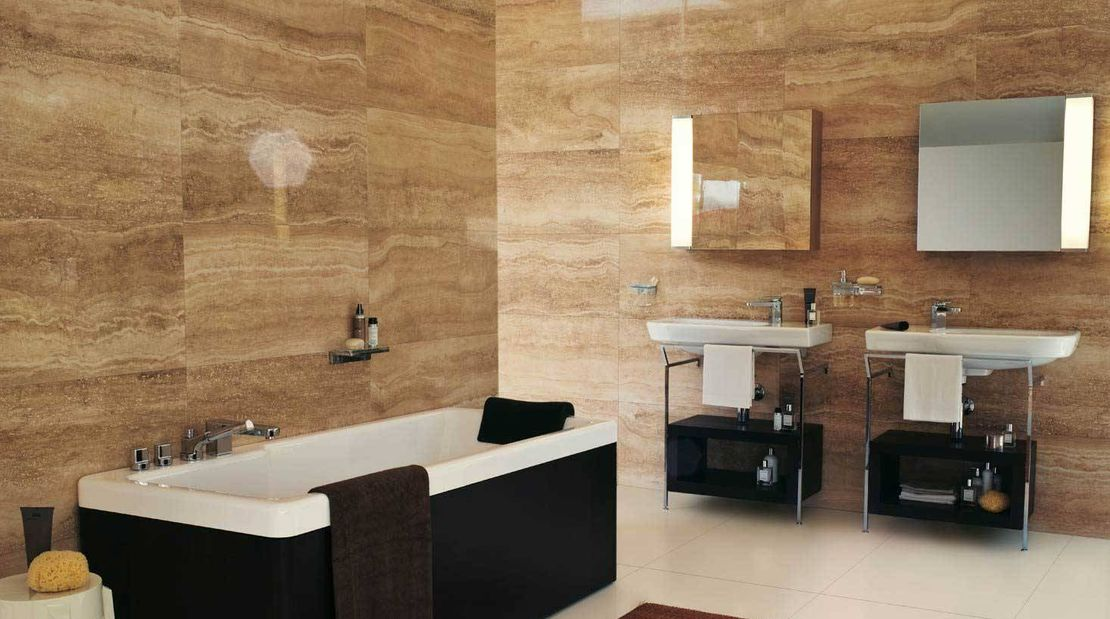 Bathroom porcelain tile